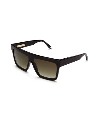 Victoria Beckham Flat Top Visor Black Sunglasses