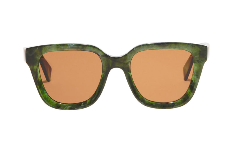 Article One Marion tinted green sunglasses front view