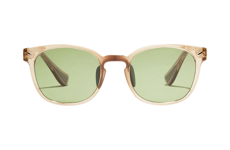 Article One Tracksmith Charles gold active sunglasses front view