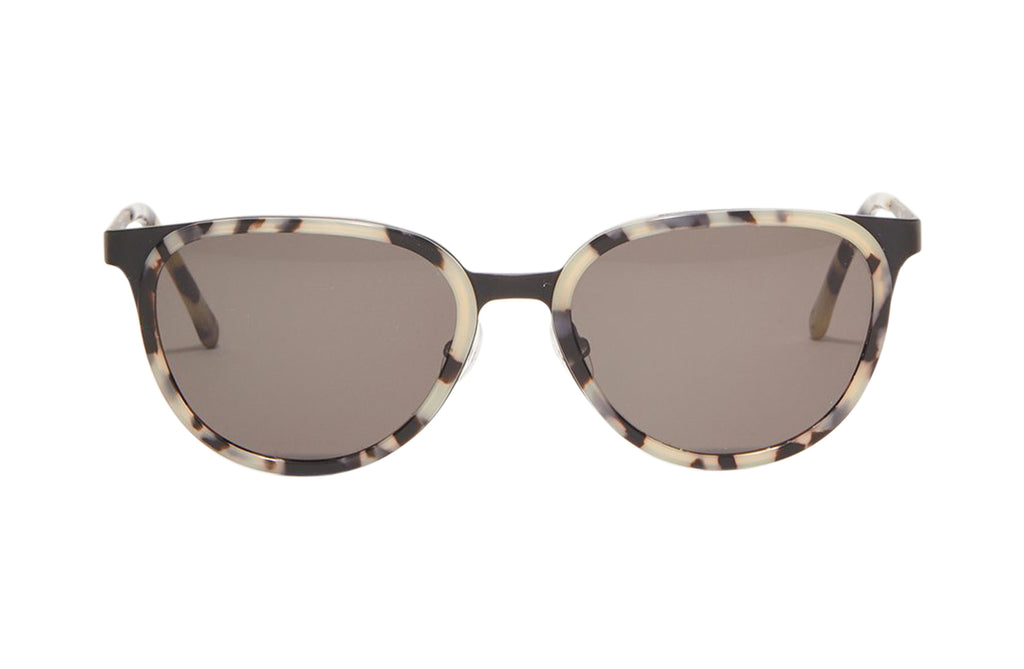 Article One Vista round mixed material sunglasses front view