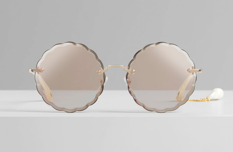 Chloe Rosie Pearl Limited Edition Round Sunglasses