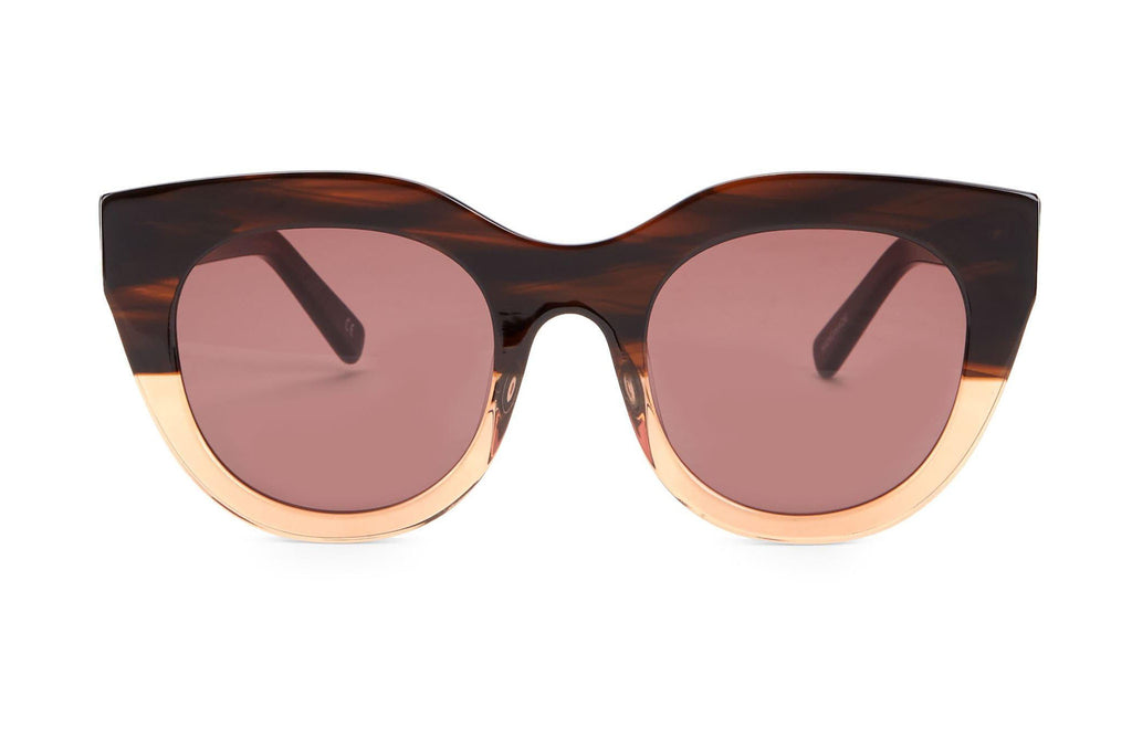 Le Specs Handmade Airy Canary Brown Sunglasses
