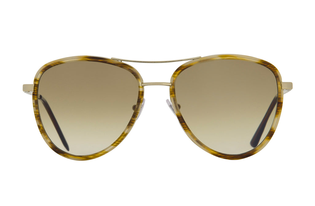 Spektre Saint Tropez Aviator Sunglasses in Gold and Havana Tortoise