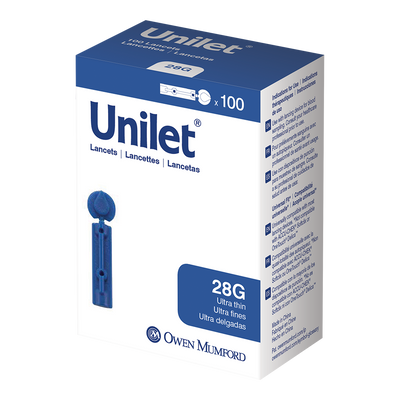 100 Count Unilet Lancets - 28G - KetoCoach
