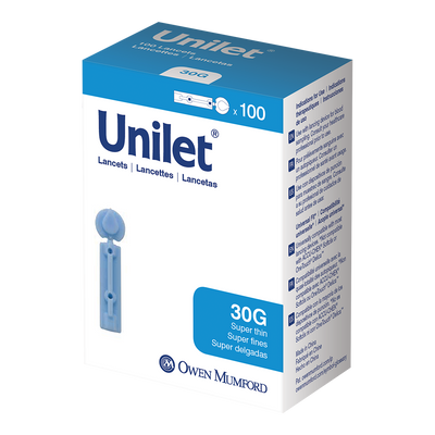 100 Count Unilet Lancets - 30G (standard) - KetoCoach