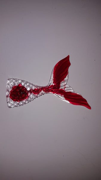 "Mermaid Tail 3"" Key Ring - Resin"