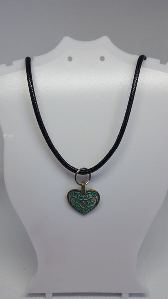 Antique heart necklace