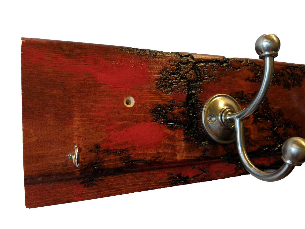 Electrocuted Ruby Red Carsiding Wall Mounted Hook Rack 2