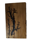 "Electrocuted Wall Art -Reclaimed Wood - 10.5"" x6"""