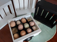 Wooden Egg Crate - Holds up to a Dozen Eggs - 7.5 x 7  x 2.75""