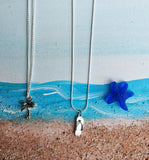 Silver Plated Beach Themed Necklace - 18""