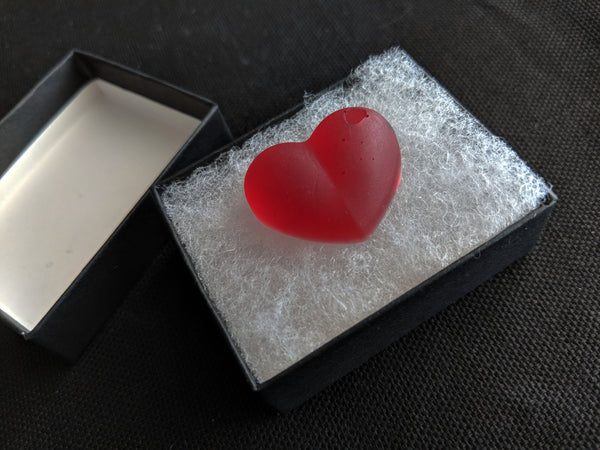Crimson Resin Heart - 1""