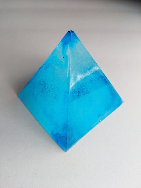 Resin Pyramid Paperweight - 2""