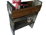 "Counter-Top Shelving and Storage Crates in Slate Gray - Stackable - 15"" x 6.25"" x 6"""