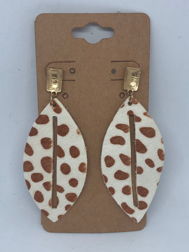 Print Dangle Earrings
