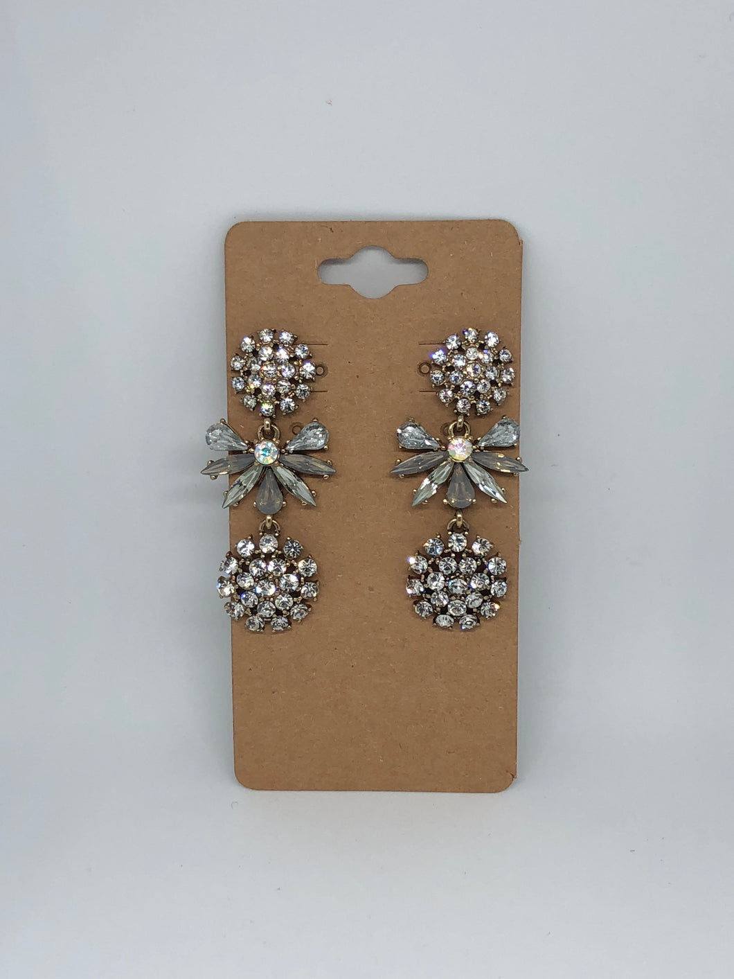 Silver Sparkly Earrings