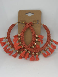 Orange Hoop Earrings