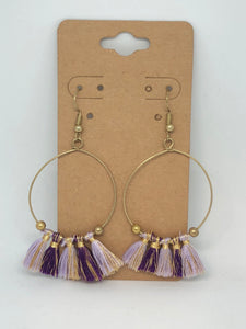 Shades of Purple Earrings