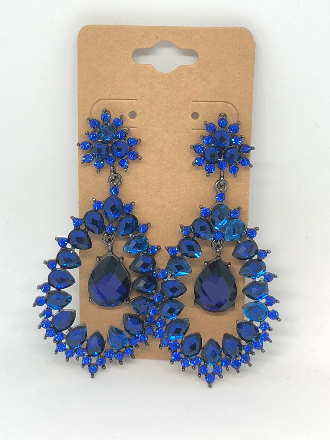 Royal Blue Sparkly Earrings