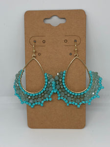 Turquoise Blue Beaded Earring