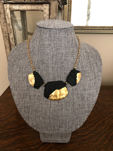 Black and Gold Dipped Necklace