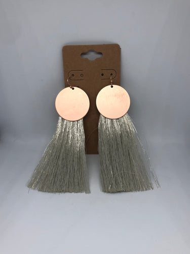 Rose Gold and Silver Tassels