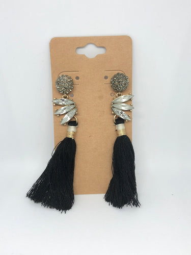 Black and Bling Earrings