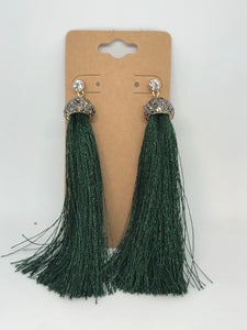 Green Tassels with Sparkles