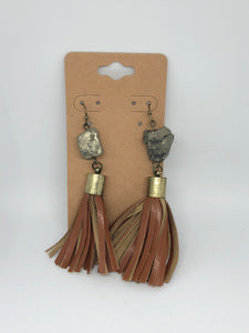 Stone and Leather Tassels