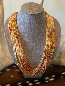 Desert Brown Beaded Necklace