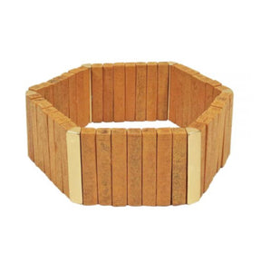 Hexagon Wood Tile Bracelet