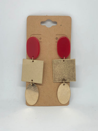 Red and Gold Dangles