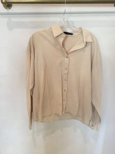 KATIE WALTMAN HERRINGBONE GOLD CHAIN NECKLACE