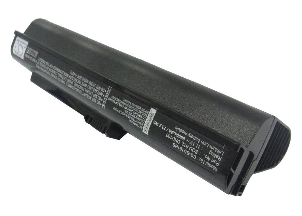 Fujitsu M2010 Netbook M2010 6600mAh Replacement Battery-2