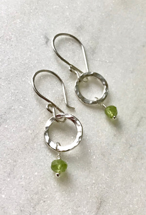 Tried and True Silver Ring Earrings -  you choose!