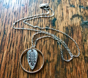 Spring Leaf Silver and Gold Necklace