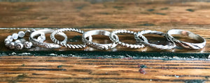 sterling silver bands for stacking