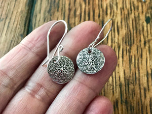 Petite Silver Floral Earrings