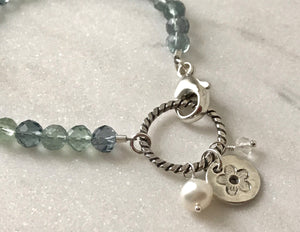 Playing Favorites Fluorite and Silver Charm Bracelet