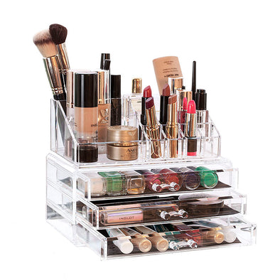 2 Tier Clear Acrylic Cosmetic Organiser