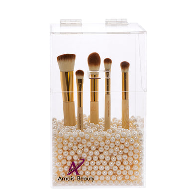Makeup Brush Holder with DustProof Lid