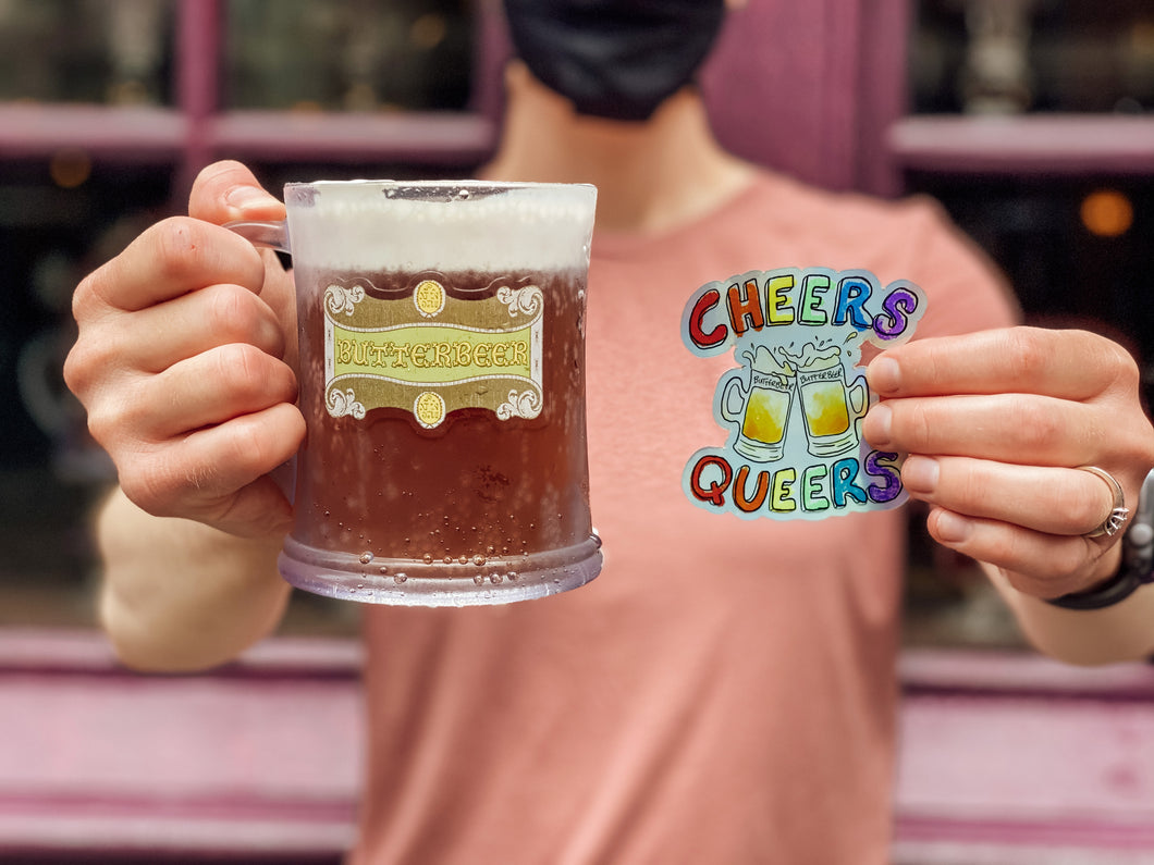 Cheers Queers Holographic Sticker