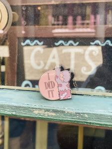 "1.25"" I Did It Mrs. Norris Enamel Pin - LIMITED RUN!"