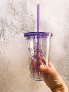 Swish and Flick Logo Purple 16 oz. Tumbler - LIMITED RUN!