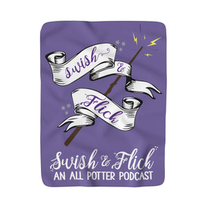 Swish & Flick Sherpa Fleece Blanket