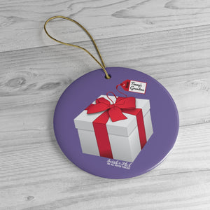 Swish & Flick Ceramic Ornament