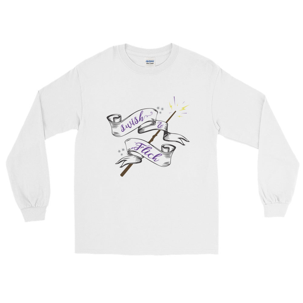 Swish & Flick Logo Unisex Long Sleeve T-Shirt