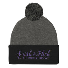 Swish & Flick Pom Pom Knit Cap