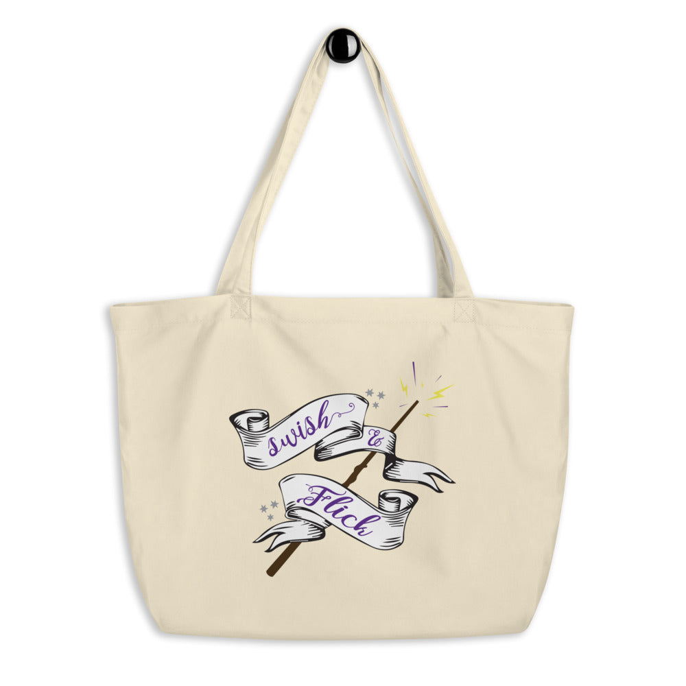 Swish and Flick Logo Large organic tote bag