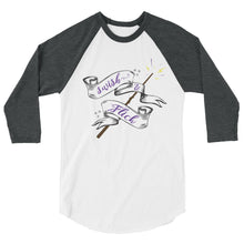 Swish & Flick Logo 3/4 sleeve raglan shirt